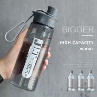 Пластиковая бутылка для воды 800 мл, Спортивная бутылка для напитков для мужчин и женщин, портативная Студенческая бутылка для воды, запаянны...