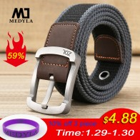 MEDYLA military belt outdoor tactical belt men&women high quality canvas belts for jeans male luxury casual straps ceintures-in Men