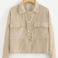 Вельветовая куртка на пуговицах размера плюс