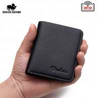 US $10.88 63% OFF|BISON DENIM Black Purse For Men Genuine Leather Men