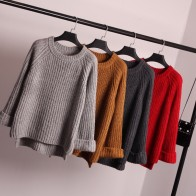 US $15.57 18% OFF|DANJEANER Autumn Winter Thick Knitting Pullovers Women Fashion Solid Casual Loose Sweaters Streetwear Jumper Knitwear Pull Femme-in Pullovers from Women