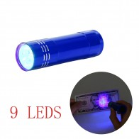 9 LED UV Light Portable Multifunctional Aluminum Alloy Outdoor Camping Hiking  Mini Torch Flashlight