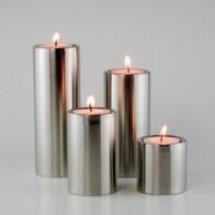4 шт./компл. цилиндрические подсвечники из нержавеющей стали для украшения дома и отеля - Свечи и уют
