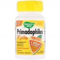 Natures Way, Primadophilus, детский, апельсиновый, 3 млрд КОЕ, 30 жевательных таблеток