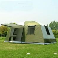 16429.37 руб. 25% СКИДКА|Высокое качество 10 человек двухслойная 2 комнаты 1 зал большая наружная семейная кемпинговая палатка для вечеринок хорошего качества с большим пространством-in Палатки from Спорт и развлечения on Aliexpress.com | Alibaba Group