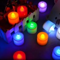 90.28 руб. 20% СКИДКА|5 шт. светодиодный светильник на батарейках, многоцветная Лампа, имитация цвета пламени, мигающий чай, украшение для дома, свадьбы, дня рождения-in Свечи from Дом и сад on Aliexpress.com | Alibaba Group