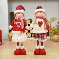 1089.73 руб. 50% СКИДКА|Рождественское украшение Санта Клаус Снеговик олень кукла украшения кулон Рождественский подарок на Новый год Regalos De Navidad для дома купить на AliExpress