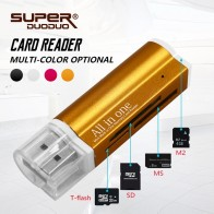 51.12 руб. 83% СКИДКА|Бесплатная доставка 4 в 1 Micro USB 2,0 Устройство чтения карт памяти usb адаптер для Micro SD SDHC TF M2 MMC MS PRO DUO Card Reader купить на AliExpress