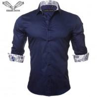 787.61 руб. 49% СКИДКА|VISADA JAUNA Для мужчин рубашка Новинка 2017 года поступление модных женских сапог Повседневное Стиль с длинным рукавом однотонные 100% хлопок Slim Fit платье мужской рубашки N795-in Повседневные рубашки from Мужская одежда on Aliexpress.com | Alibaba Group