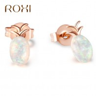 US $2.2 37% OFF|ROXI Fashion Opal Stud Earrings For Women Rose Gold Color Cute Pineapple Earrings Wedding Party Jewelry boucle d