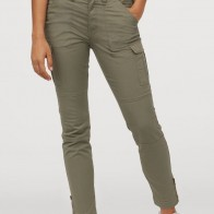 Ankle-length cargo trousers - Khaki green - Ladies | H&M GB