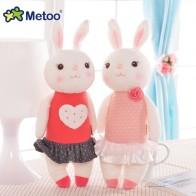 449.8 руб. 40% СКИДКА|Плюшевые милые мягкие детские игрушки для девочек на день рождения Рождественский подарок 11 дюймов Tiramitu кролики мини Metoo кукла купить на AliExpress