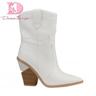 US $33.5 40% OFF|Doratasia brand spring winter Ins hot big size 46 high heels women Shoes Retro short boots slip on woman shoes western boots-in Mid-Calf Boots from Shoes on Aliexpress.com | Alibaba Group