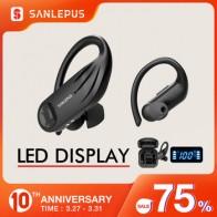 SANLEPUS Bluetooth наушники TWS 5,0 Led Дисплей беспроводные наушники стерео наушники для Xiaomi в ухо телефон игровая Спортивная гарнитура
