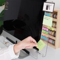 Акриловый прозрачный держатель для заметок, креативный Настольный пластиковый держатель для заметок, карт с именем и телефонов, Канцтовары