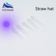 41.58 руб. |20 шт. 5 мм свет УФ фиолетовый соломенная шляпа широкий угол ультрафиолет 395nm 400nm Прозрачный 5 мм светодиод светодио дный светодиодные лампы купить на AliExpress