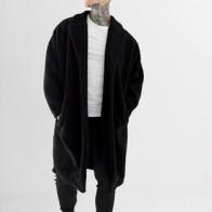 ASOS DESIGN extreme oversized borg duster jacket in black