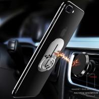 194.92 руб. 20% СКИДКА|Универсальный палец кольцо держатель мобильного телефона Магнит Стенд 360 Вращающийся направляющих Поп сцепление автомобиля металлический держатель Магнитный стенд купить на AliExpress