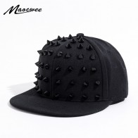 Unisex Punk Hedgehog Hat Personality Jazz Snapback Spike Studded Rivet Spiky Baseball Cap for Hip Hop Rock Dance Bons Dad hats
