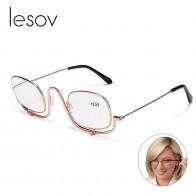 US $3.29 45% OFF|Lesov kobiety składane makijaż oczu okulary do czytania okulary powiększające makijaż okulary do czytania + 1.5, + 2.0, + 2.5, + 3.0, + 4.0 lupa okulary w Okulary do czytania od Odzież Akcesoria na Aliexpress.com | Grupa Alibaba