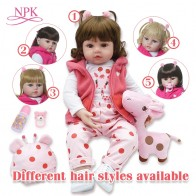 US $35.42 56% OFF|bebes reborn doll 48cm Silicone reborn baby doll adorable Lifelike toddler  Bonecas girl menina de surprice doll with hands open-in Dolls from Toys & Hobbies on Aliexpress.com | Alibaba Group