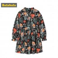 1414.81 руб. 49% СКИДКА|Balabala/платье с цветочным рисунком осенняя одежда для маленьких девочек с длинными рукавами и красивыми оборками в стиле пэчворк, повседневные платья для девочек купить на AliExpress