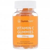 GummYum!, Vitamin C Gummies, Natural Tart Orange Flavor, 125 mg, 60 Gummies - Vitamin C
