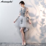 6308.88 руб. 15% СКИДКА|Новое поступление, недорогие коктейльные платья, розовое платье с короткими рукавами, новинка 2018 года, платье с высоким низким подъемом, элегантное бирюзовое платье, большие размеры-in Платья для выпускного бала from Все для свадеб и торжеств on Aliexpress.com | Alibaba Group