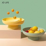 JO LIFE креативная цветная корзина для слива фруктов макарон, лоток для хранения закусок, многофункциональный фильтр, съемная конфетная тарел... - Предметы для кухни