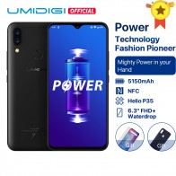 9154.02 руб. 30% СКИДКА|UMIDIGI power Android 9,0 5150 mAh большая батарея 18 W 6,3
