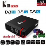 US $99.32 23% OFF|MECOOL KIII PRO DVB S2 DVB T2 DVB C Decoder Android 7.1 TV Box 3GB 16GB K3 Pro Amlogic S912 Octa Core 64bit 4K Combo Set top box-in Set-top Boxes from Consumer Electronics on Aliexpress.com | Alibaba Group