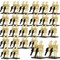100pcs Wholesale Space Wars Battle Droid Army Figure Model Set Building Blocks kits Brick Education Starwars Toys for Children