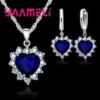 € 1.25 93% de DESCUENTO|Yameli moderno S90 conjunto de joyas rellenas para mujer corazón CZ piedra colgantes collares pendientes amor regalo de aniversario-in Conjuntos de joyería from Joyería y accesorios on Aliexpress.com | Alibaba Group