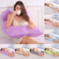 US $10.45 41% OFF|Sleeping Support Pillow For Pregnant Women Body Cotton Pillowcase U Shape Maternity Pregnancy Pillows Side Sleepers Bedding-in Body Pillows from Home & Garden on Aliexpress.com | Alibaba Group