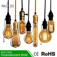 58.52 руб. 44% СКИДКА|Ретро лампа Эдисона E27 220 V 40 W ST64 G95 винтажная лампа накаливания Эдисона лампада ламповая нить подвесной светильник для дома-in Подвесные светильники from Лампы и освещение on Aliexpress.com | Alibaba Group