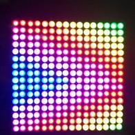 1 шт. 16x16 пикселей WS2812B светодиодный чип радиатора цифровая индивидуально Адресуемая панель светодиодного модуля Гибкая панель дисплея DIY DC5V