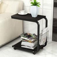 Чайный столик с боковым концом, офисный кофейный столик, журнальная полка, небольшой столик, подвижная мебель для гостиной и спальни