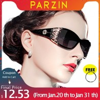 PARZIN Luxury Brand Vintage Sunglasses Women Polarized Ladies Sun Glasses For Women Hollow Lace Feminine Glasses For Driving-in Women