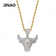 US $13.29 30% OFF|JINAO Fashion Cubic Zircon Iced Out Chain Necklace Bull Demon King Pendant Hip Hop Jewelry Statement Necklace Bling Gift for Man-in Pendant Necklaces from Jewelry & Accessories on Aliexpress.com | Alibaba Group