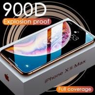 Роскошное стекло 900D для iPhone 11 Pro XS MAX XR X, защита для экрана, изогнутое закаленное стекло для iPhone XR 10 7 8 6s Plus, защитная пленка