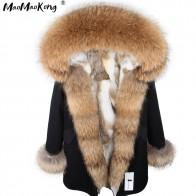 10728.61 руб. 40% СКИДКА|Мода 2017 г. женские кроличий мех внутри с капюшоном длинное пальто парки и пиджаки Army Green большой енота меховым воротником зимняя куртка DHL-in Парки from Женская одежда on Aliexpress.com | Alibaba Group