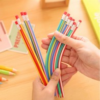 US $0.32 19% OFF|Cute Candy Color Soft Flexible Standard Pencils Korea Kawaii Folding Pencil with Eraser School Stationery Creative kids toy-in Standard Pencils from Education & Office Supplies on AliExpress