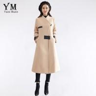 3288.55 руб. 30% СКИДКА|YuooMuoo/Дизайнерские однобортные пальто для женщин, однотонная шерстяная куртка с длинными рукавами и отложным воротником, верхняя одежда, шерстяные рабочие пальто casaco-in Шерсть и сочетания from Женская одежда on Aliexpress.com | Alibaba Group