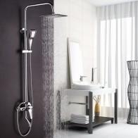 3486.56 руб. 18% СКИДКА|Большая акция 8 дюймов 3 функции хромированная отделка латунный сделанный смеситель для душа дождь душевая головка смеситель для ванной комнаты-in Смесители для душа from Товары для дома on Aliexpress.com | Alibaba Group