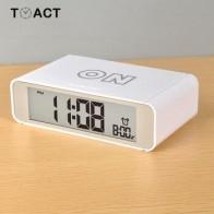 Смарт-часы со светодиодным цифровым будильником, откидные часы, будильник, прикроватные радио-часы с сенсорным светящимся повтором, электр... - Крутые будильники