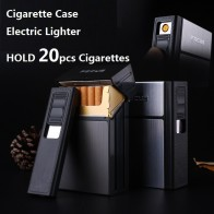 US $7.37 18% OFF|FOCUS Cigarette Case Box Lighter with Flameless Removable Electronic Lighter Windproof Torch Lighter 20pcs Cigarette Holder Case-in Cigarette Accessories from Home & Garden on Aliexpress.com | Alibaba Group