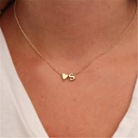 € 1.25 12% de DESCUENTO|Collar de gargantilla de letra con nombre para mujer y niñas con corazón delicado y pequeño a la moda-in Collares de cadena from Joyería y accesorios on Aliexpress.com | Alibaba Group