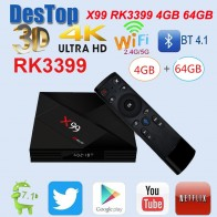 US $60.99 |X99 Smart Android 7.1 TV Box RK3399 Six Core 4G / 64G UHD 4K With Voice remote control 2.4G/5G WiFi 1000M LAN X99 android tv box-in Set-top Boxes from Consumer Electronics on Aliexpress.com | Alibaba Group