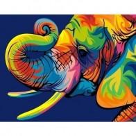 """Раскраска по номерам """"Радужный слон"""", 40 х 50 см бренда Артвентура - Все, что тебе сейчас нужно"""