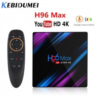 Kebidumei H96 MAX Android 9.0 TV Box 4GB RAM 64GB H.265 Rockchip RK3318  4K Voice Assistant Streaming Media Player 2GB16GB